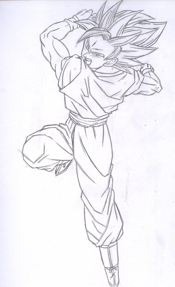 Zeichnen.. Goku_ssj_2_sketch_by_kingvegito_180